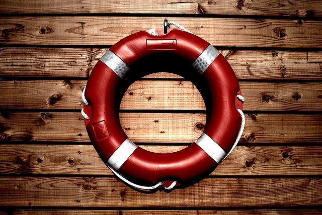 Safety life buoy.